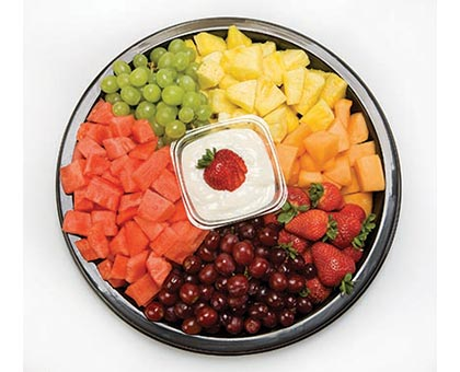 FRESH FRUIT, Cantaloupe, Watermelon, Pineapple, Strawberries, Grapes, Cream Cheese Dip