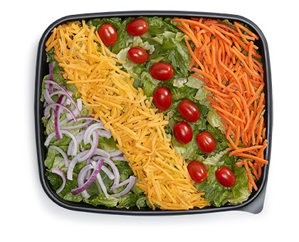 GARDEN SALAD WITH DRESSING