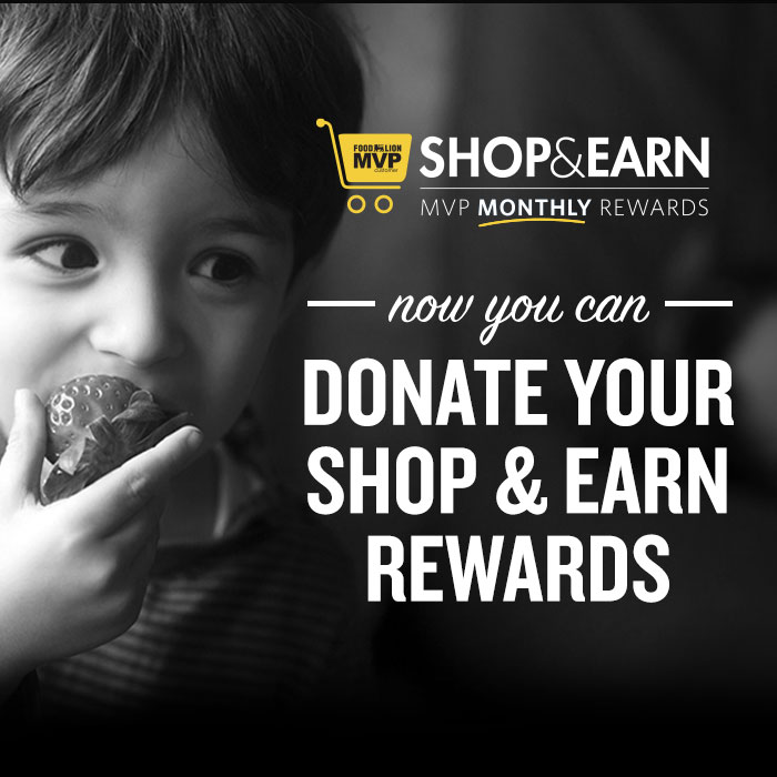 Shop and Earn - Donate Your Rewards