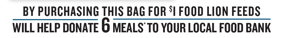 Purchase this bag for $1 and help donate 6 meals.