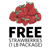 FREE 1 LB PACKAGE OF STRAWBERRIES