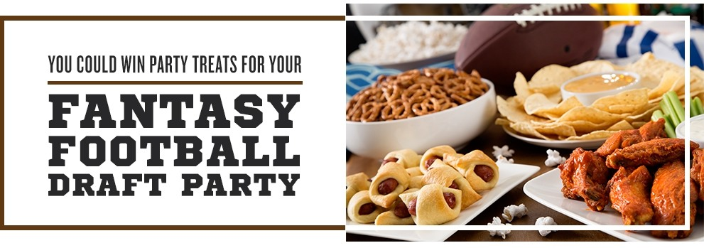 You could win party treats for your Fantasy Football Draft Party