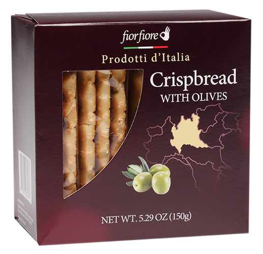 Crispbread With Olives package