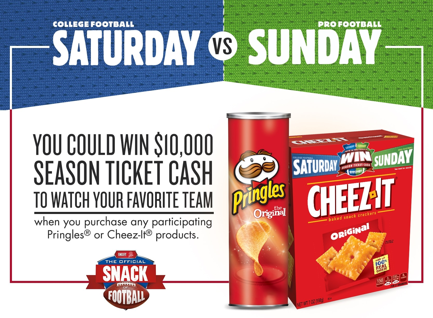 You could win $10,000 season ticket cash