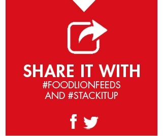 SHARE IT WITH #FOODLIONFEEDS AND #STACKITUP