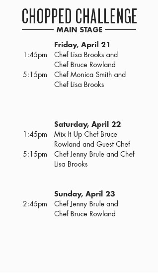 Chopped Challenge schedule