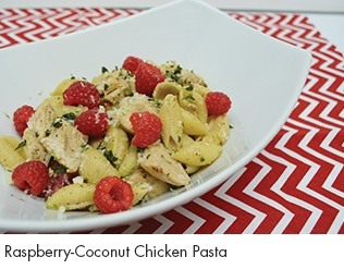 Raspberry-Coconut Chicken Pasta