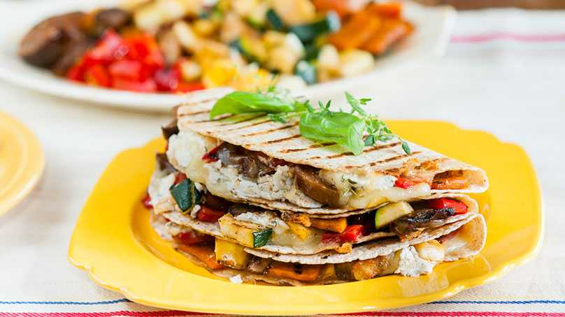 image of Grilled Vegetable Quesadillas