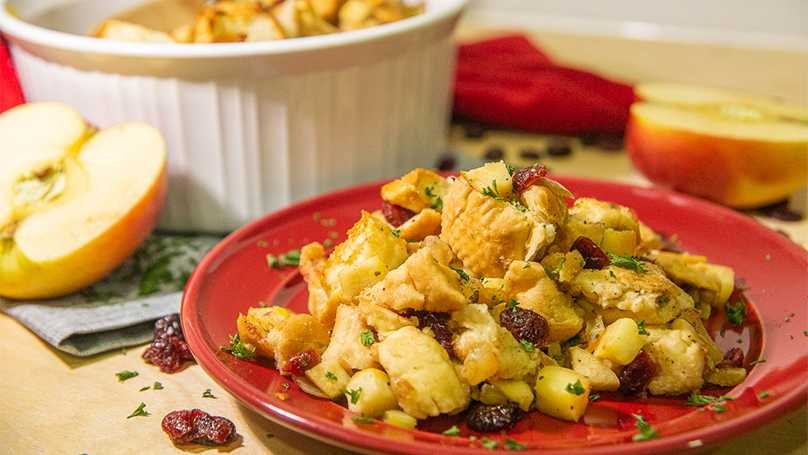 image of Apple Cranberry Rosemary Stuffing