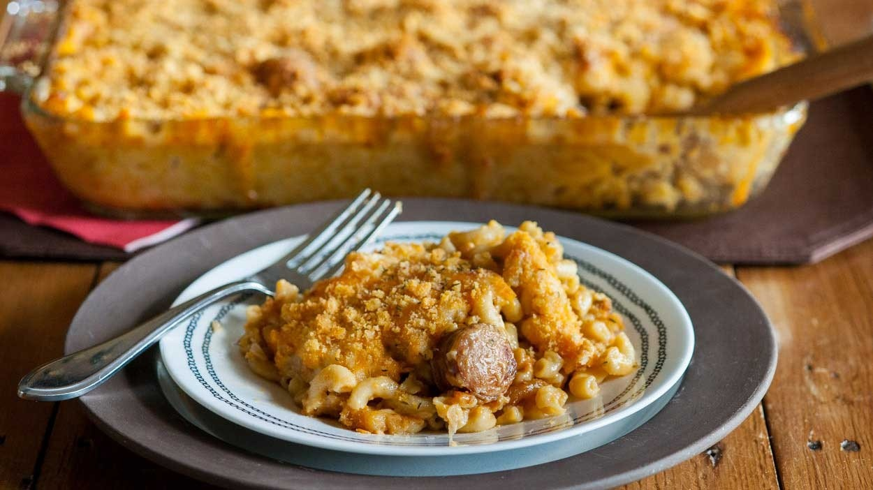 Apple Sausage Mac and Cheese