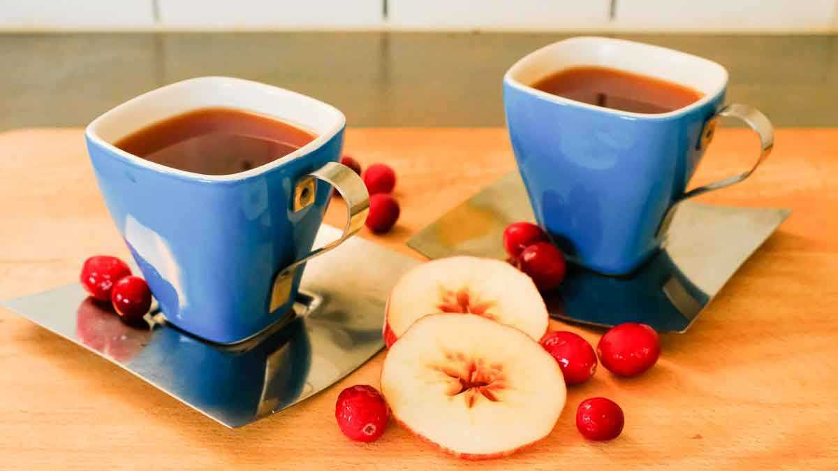 image of Apple Cranberry Slow Cooker Tea