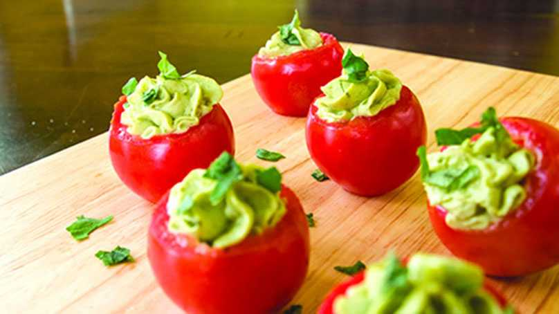 image of Avocado Pesto-Stuffed Tomatoes