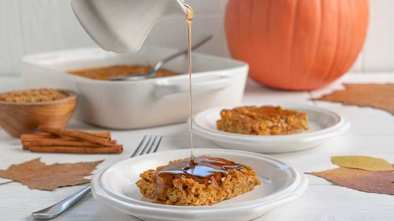 image of Baked Pumpkin Oatmeal