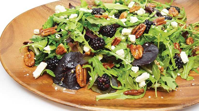 image of Black and Blue Salad with Ginger-Lime Vinaigr...