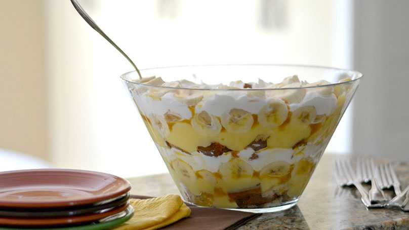 image of Butterscotch Banana Trifle