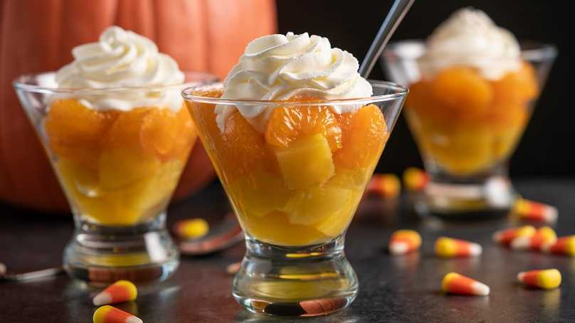 image of Candy Corn Fruit Parfait