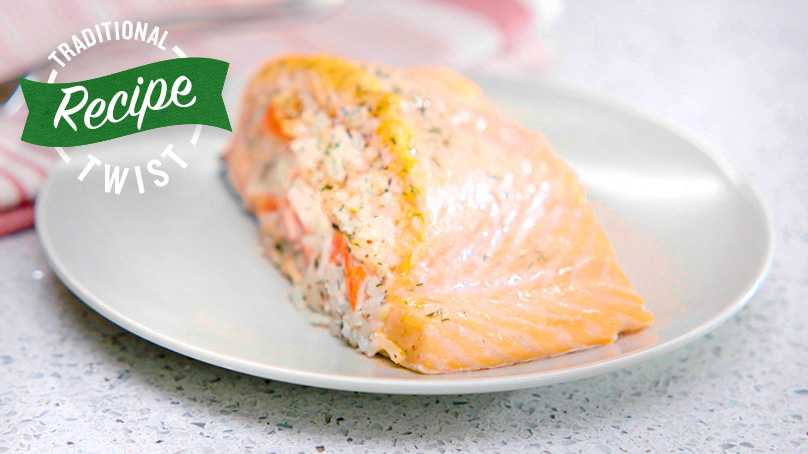 image of Crab Stuffed Salmon Fillets