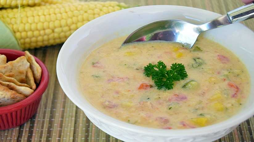 image of Creamy Corn and Vegetable Soup