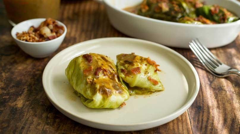 German Stuffed Cabbage Rolls with Beef