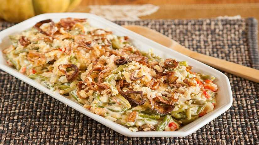 image of Green Bean Casserole with Fried Shallots