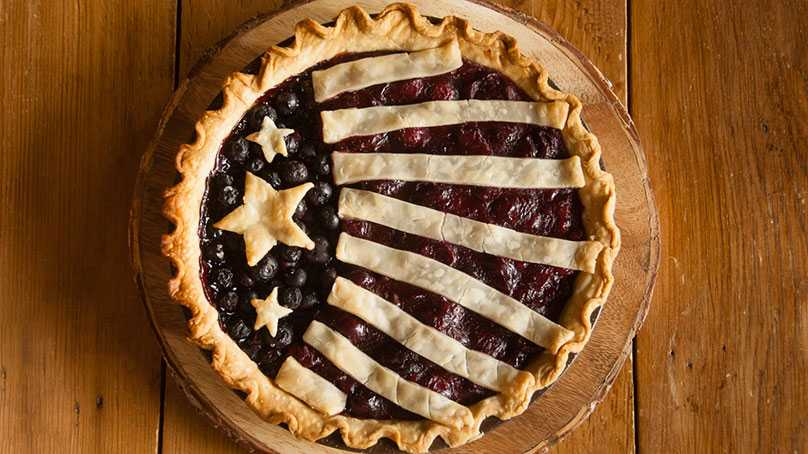 image of Red, White and Blue Cherry Pie