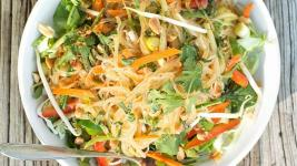 Rice Noodle Salad with Fresh Vegetables and H...