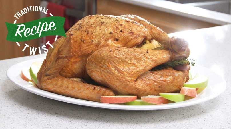 image of Roasted Turkey with Apples & Onions