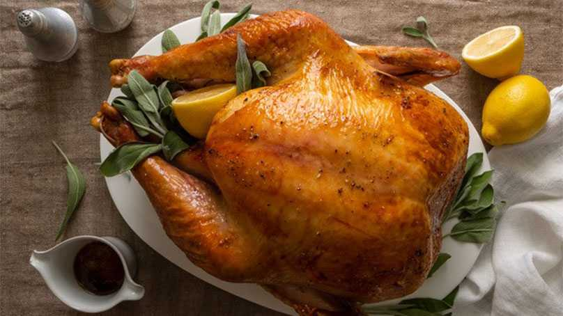 image of Sage Roasted Turkey with Crunchy Maple Crust