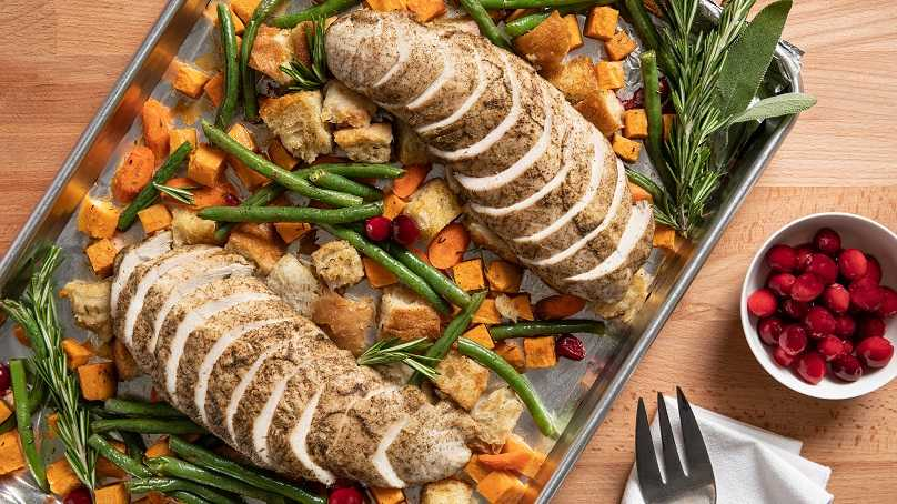 image of Sheet-Pan Turkey Dinner