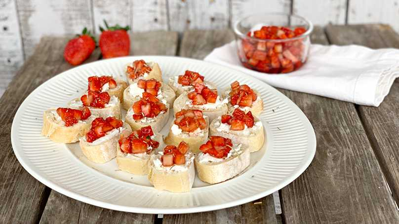 image of Strawberry & Goat Cheese Bruschetta
