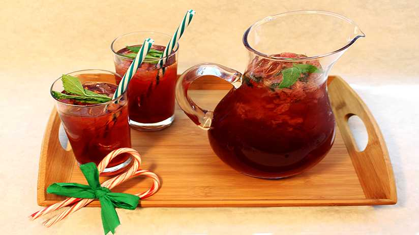 image of Strawberry Peppermint Sweet Tea
