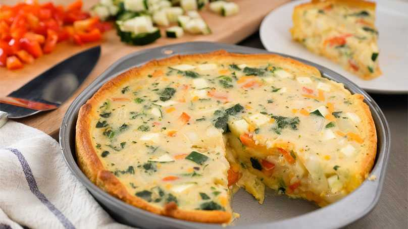 image of Vegetable Cheddar Cheese Torte