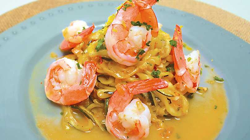 image of Zucchini and Shrimp Scampi