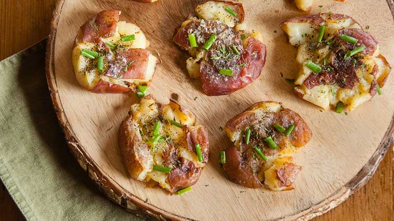 image of Herb Smashed Red Potatoes
