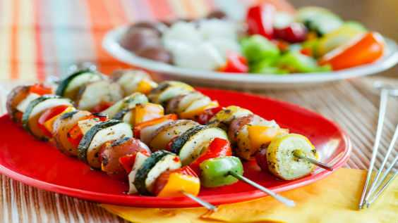 image of Grilled Vegetable Kabobs
