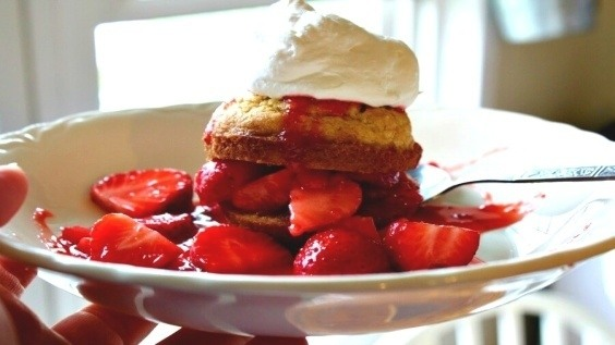 Strawberry Muffin Shortcakes