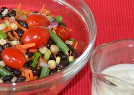 image of Sweet  Corn and Black Bean Salad with Lime-Yo...