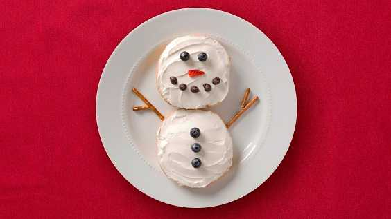 image of Snowman Bagels